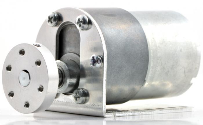 Pololu motor electric metalic 24V, 131:1, 37Dx57L, pinion elicoidal [3]
