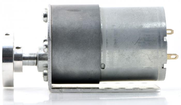 Pololu motor electric metalic 24V, 131:1, 37Dx57L, pinion elicoidal [4]