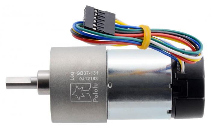 Pololu motor electric metalic 24V, 1311, 37Dx73L, pinion elicoidal,encoder [1]