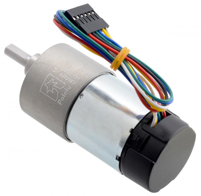 Pololu motor electric metalic 24V, 1311, 37Dx73L, pinion elicoidal,encoder [2]