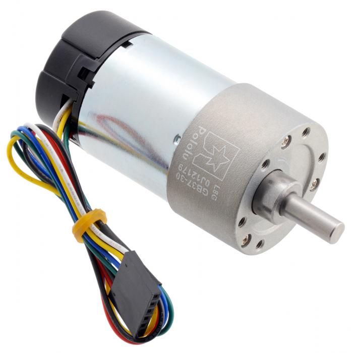 Pololu motor electric metalic 24V, 30:1, 37Dx68L, pinion elicoidal, encoder [0]