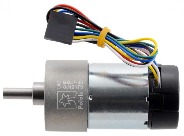 Pololu motor electric metalic 24V, 30:1, 37Dx68L, pinion elicoidal, encoder [1]