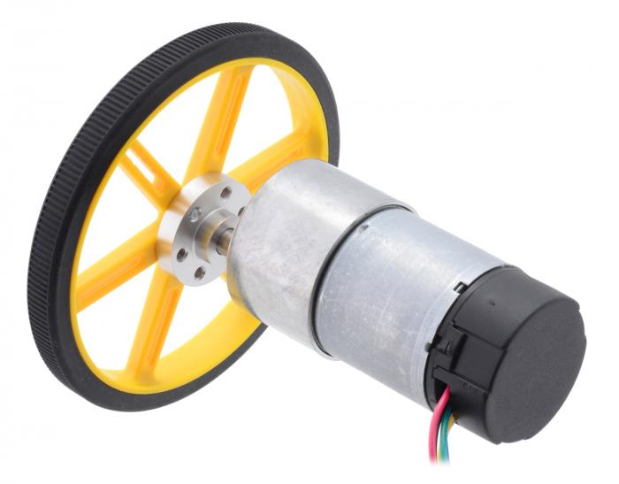 Pololu motor electric metalic 24V, 30:1, 37Dx68L, pinion elicoidal, encoder [3]