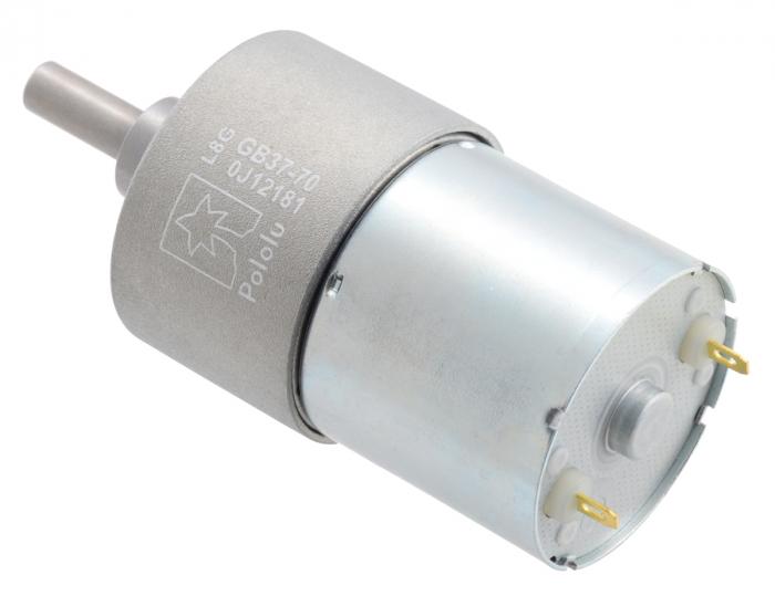 Pololu motor electric metalic 24V, 70:1, 37Dx54L, pinion elicoidal [2]
