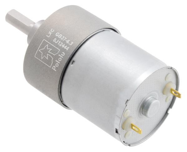 Pololu motor electric metalic, 6.3:1, 37Dx50L, 12V, pinion elicoidal [2]