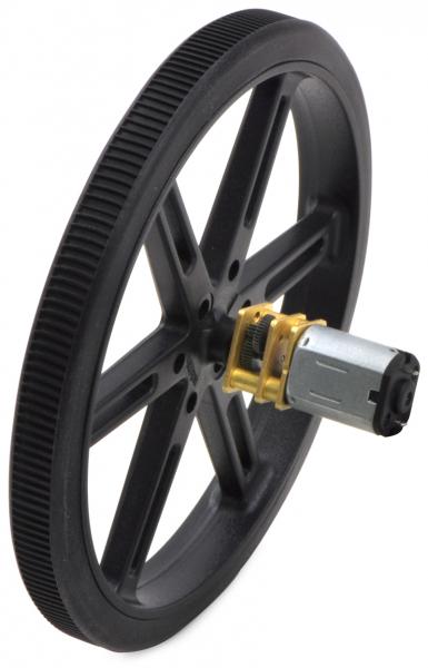 Pololu motor electric micro metal 50:1 HPCB 6V cu ax extins [1]