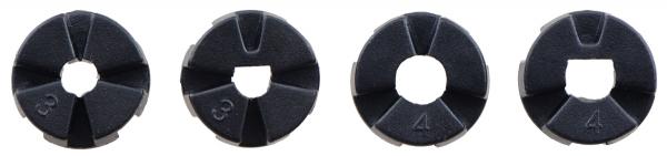 Roti Pololu cu mai multi butuci si insertii pentru axuri de 3mm si 4mm 80mm - Negru 8