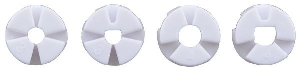 Roti Pololu cu mai multi butuci si insertii pentru axuri de 3mm si 4mm 80mm - Negru 9