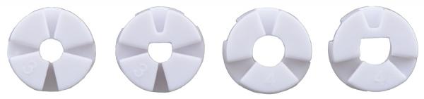 Roti Pololu  pentru axuri de 3mm si 4mm , 80 mm - Alb 8