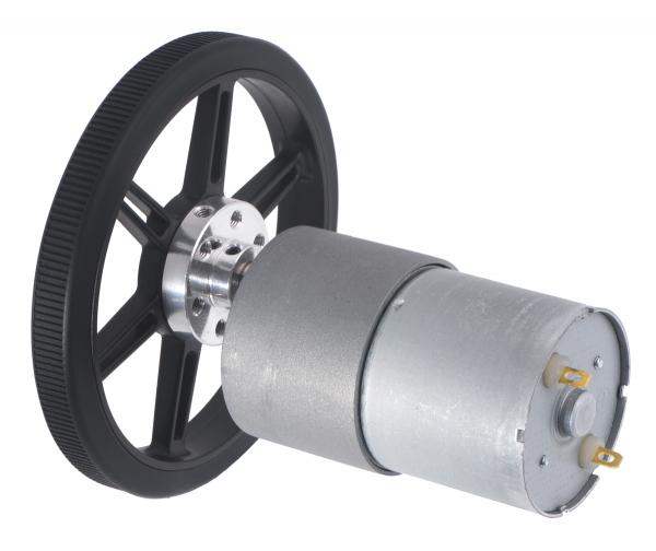 Roti Pololu  pentru axuri de 3mm si 4mm , 80 mm - Alb 12