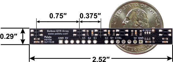 Pololu tablou senzori reflectanta cu 5 canale pentru Balboa 32U4 [2]