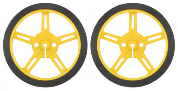 Roti Pololu Wheel 60×8mm Perechea - Galbene 0