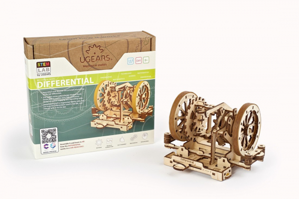 Puzzle mecanic Ugears Diferentialul 15
