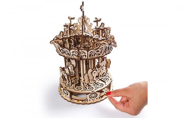 Puzzle mecanic 3D Ugears Carusel [5]