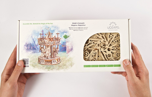 Puzzle mecanic 3D Ugears Carusel 15