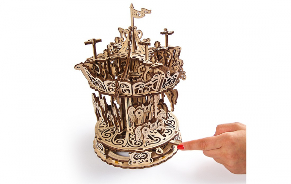 Puzzle mecanic 3D Ugears Carusel 4