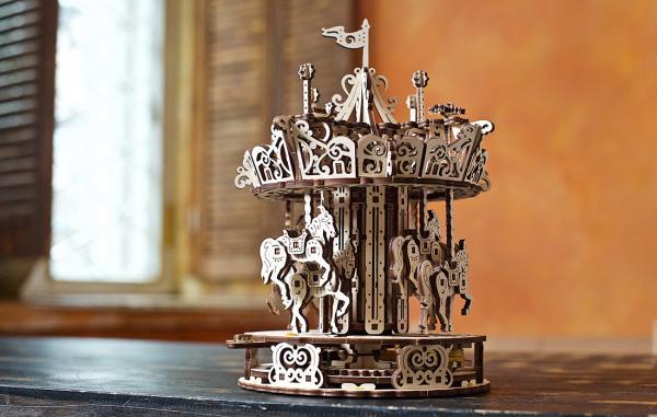 Puzzle mecanic 3D Ugears Carusel [7]