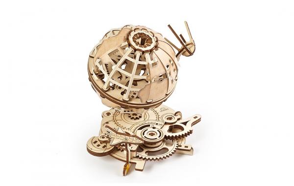 Puzzle mecanic Ugears Glob pamantesc 3