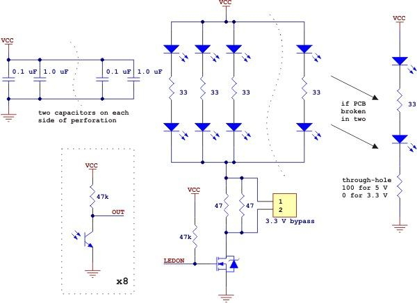 Bara senzori linie analogic QTR-8A 1