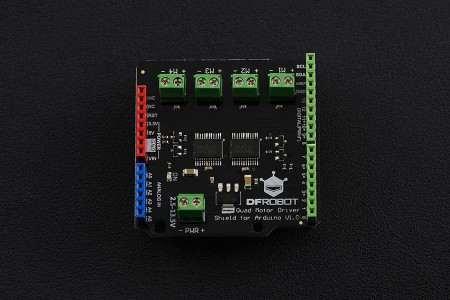 Quad DC Motor Driver Shield  Arduino 2