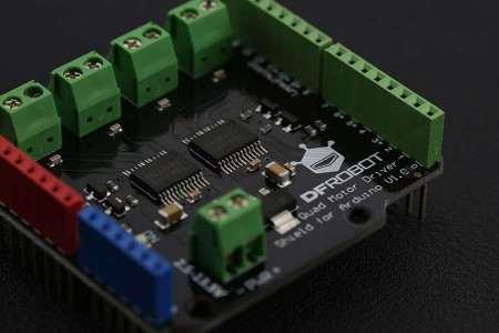 Quad DC Motor Driver Shield  Arduino 3