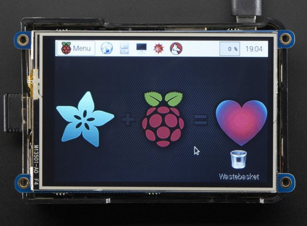 "PiTFT Plus 480x320 3.5"" TFT+Touchscreen pentru Raspberry Pi 1"