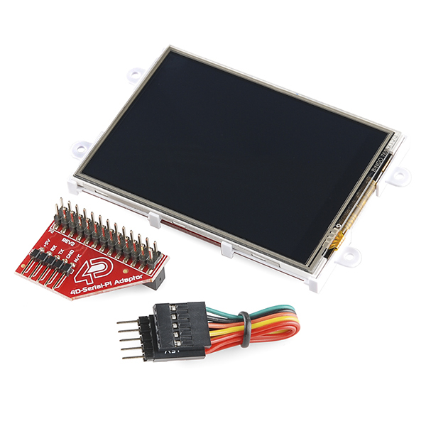 "RETRAS - Raspberry Pi Display Module - 3.2"" Touchscreen LCD 0"