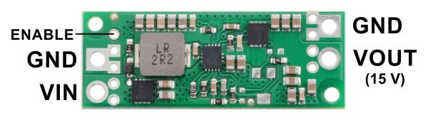 Regulator step-up de 15V Pololu U3V70F15 [1]