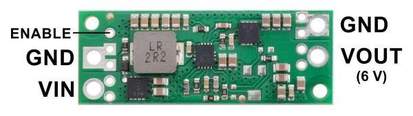 Regulator step-up de 6V Pololu U3V70F6 [1]