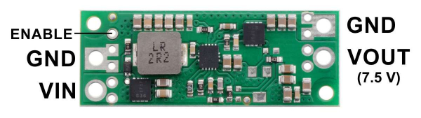 Regulator step-up de 7.5V Pololu U3V70F7 1