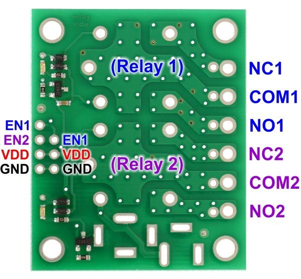 Placa  2 relee SPDT 5V 1