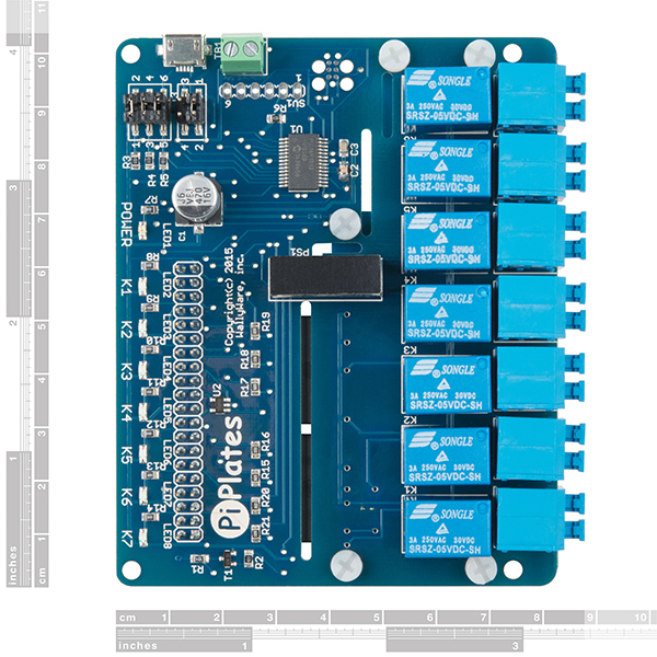 RELAYplate - placa cu 7 relee Raspberry Pi 1