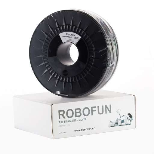 RETRAS Filament Premium Robofun ABS 1KG  3 mm - Silver [6]
