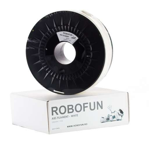 Filament Premium Robofun ABS 1KG  3 mm - Alb 0