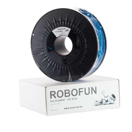 RETRAS - Filament Premium Robofun PLA 1KG  3 mm - Albastru deschis [5]
