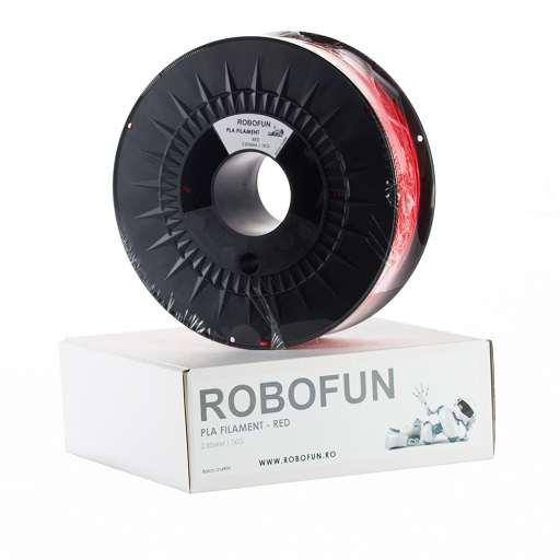 RETRAS - Filament Premium Robofun PLA 1KG  3 mm - Rosu 0