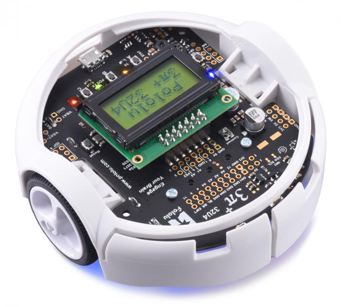Robot Pololu 3pi+ 32U4 - Editia Hyper (motoare 15:1 HPCB), asamblat 1