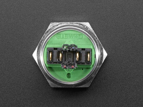 Buton RGB fara mentinere cu protectie la intemperii - 22mm 6V 2