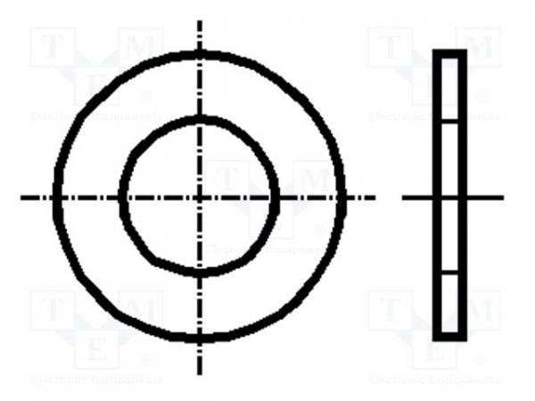 Saiba plata, rotunda, de 5mm, Kraftberg K2.2/D125-A2 [0]