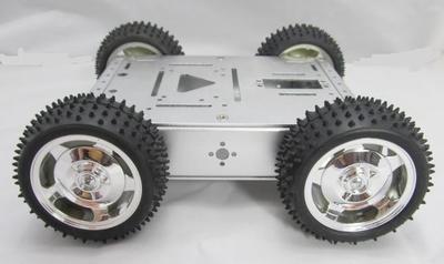 Sasiu tanc robotic metalic cu roti mari [0]
