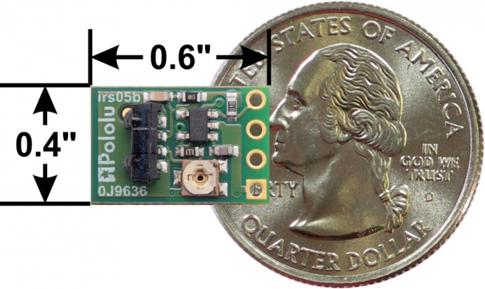 Senzor de proximitate Pololu 38 kHz IR, sensibilitate fixa, luminozitate mica [2]