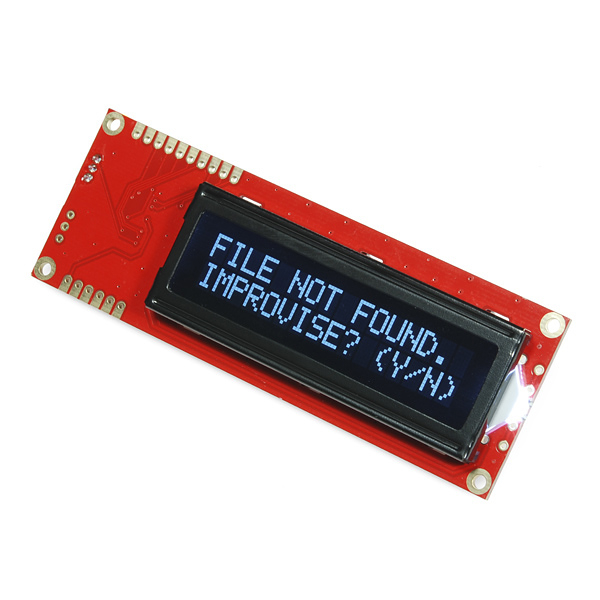 LCD 16x2 Serial - Alb pe negru 5V 0