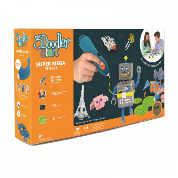 Set creion 3D 3Doodler Start Super Mega 3D Printing 2