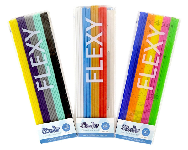 Set filamente flexibile pentru 3Doodler - multicolore, FLEXY, Mix 3, Super Fruit 0