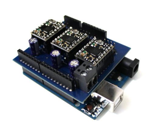 Shield Arduino pentru motoare stepper 4