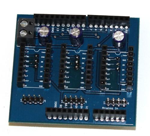 Shield Arduino pentru motoare stepper 3