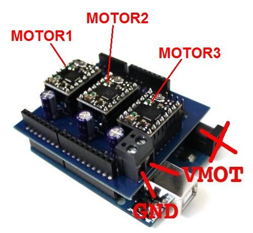 Shield Arduino pentru motoare stepper 1