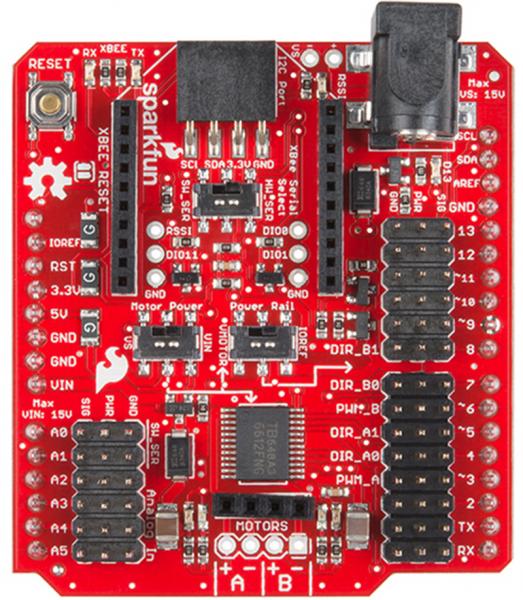 Shield wireless SparkFun pentru driver de motor 0