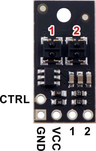 Bara senzori linie digitali 2 Pololu QTRX-HD-02RC [4]