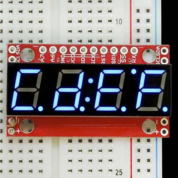 Display serial 7 segmente Albastru 3